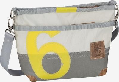 360 Grad Umhängetasche 'Deern' in gelb / grau / offwhite, Produktansicht