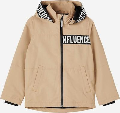 NAME IT Functionele jas in de kleur Lichtbeige / Zwart / Wit, Productweergave