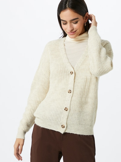 PIECES Strickjacke 'Semele' in creme: Frontalansicht