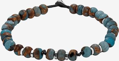 Tateossian London Armband in blau / braun / schwarz / silber, Produktansicht