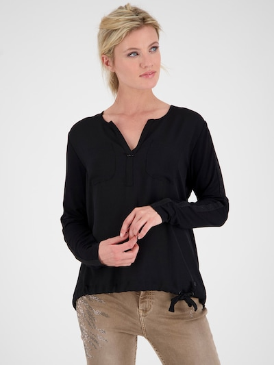 monari Camiseta 'Schluse' en negro: Vista frontal