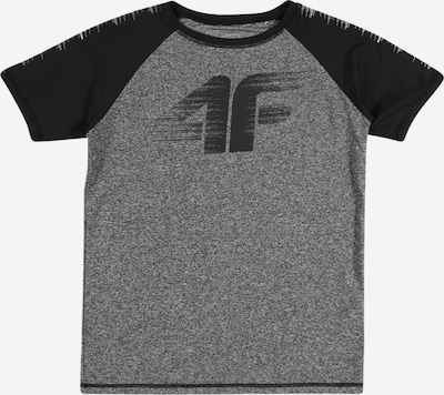 4F Sport-Shirt in grau / schwarz, Produktansicht