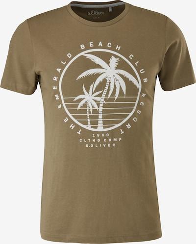s.Oliver T-Shirt in hellbraun / offwhite, Produktansicht