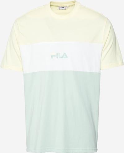 FILA Shirt 'ELLIOTT' in de kleur Lichtgeel / Mintgroen / Wit, Productweergave