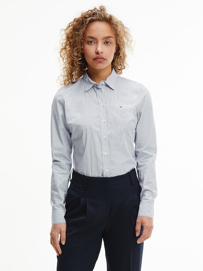 TOMMY HILFIGER Bluse in blau / rot / weiß, Modelansicht