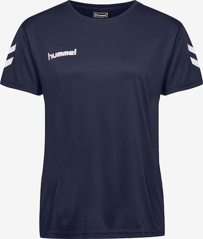 Hummel T-Shirt in dunkelblau / weiß, Produktansicht
