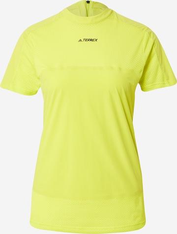 adidas Terrex T-Shirt 'Zupahike' in Gelb