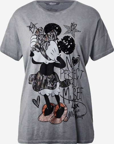 Tricou 'Disney Minnie Not perfect' PRINCESS GOES HOLLYWOOD pe auriu - roz / gri / negru / alb, Vizualizare produs