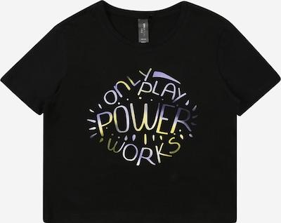 ONLY PLAY Sportshirt 'AUBE' in pastellgelb / flieder / schwarz, Produktansicht