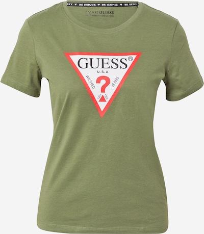 Tricou GUESS pe verde / roșu / negru / alb, Vizualizare produs