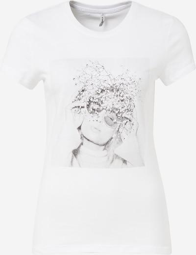 ONLY Shirt 'Ellie' in grau / weiß, Produktansicht