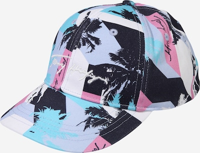 TOMMY HILFIGER Cap in navy / türkis / rauchblau / pink / weiß, Produktansicht