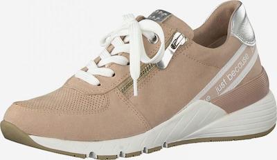 MARCO TOZZI Sneaker in dunkelbeige / silber, Produktansicht