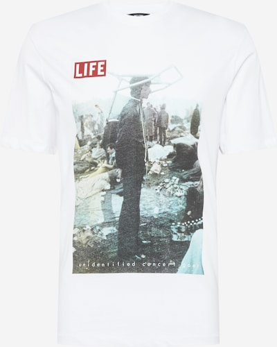 Only & Sons T-Shirt 'LIFE MAGAZINE' in mischfarben / weiß, Produktansicht
