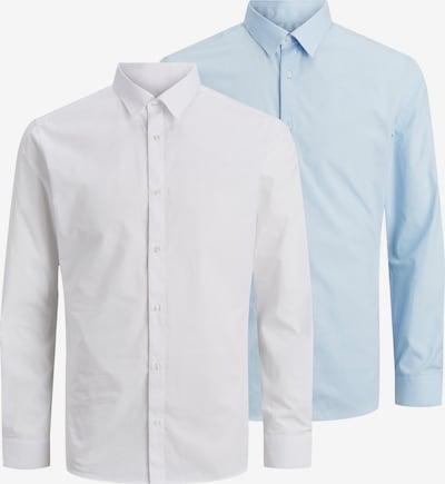 JACK & JONES Zakelijk overhemd in de kleur Lichtblauw / Wit, Productweergave