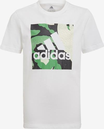 ADIDAS PERFORMANCE T-Shirt fonctionnel en beige / vert / noir / blanc, Vue avec produit