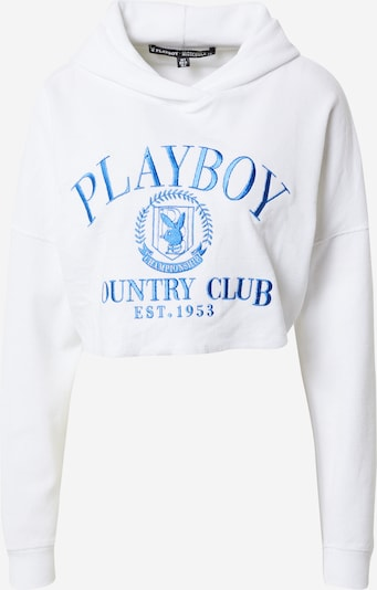 Missguided Sweatshirt 'PLAYBOY' in royalblau / weiß, Produktansicht