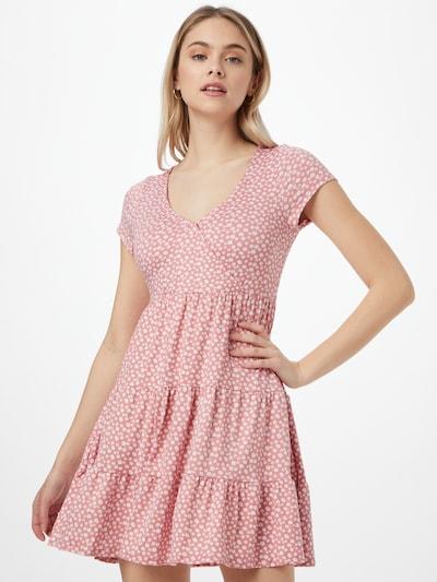 HOLLISTER Haljina u prljavo roza / bijela, Prikaz modela