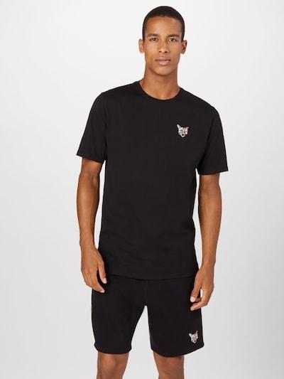 PARI Shirt 'Sports Club' in pink / schwarz / weiß: Frontalansicht