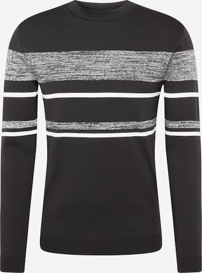 River Island Pullover 'Ls Space Dye Blocked Jumper' in schwarz, Produktansicht