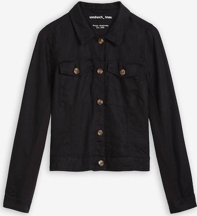 Sandwich Between-Season Jacket in Black, Item view