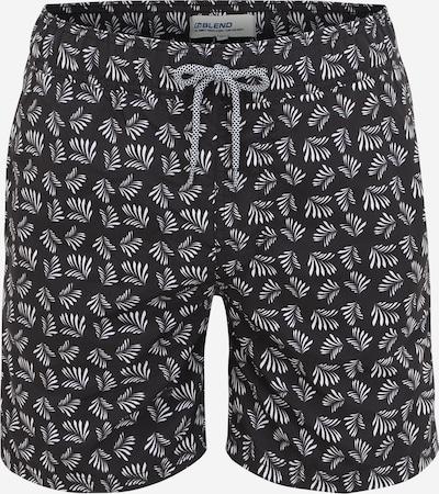 BLEND Shorts de bain en noir / blanc, Vue avec produit