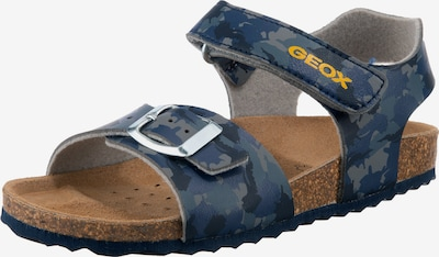 GEOX Sandale ' GHITA ' in blau / gelb / grau, Produktansicht