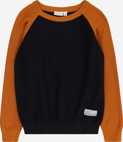 NAME IT Пуловер 'VUSPER' в синя тинтява / коняк, Преглед на продукта