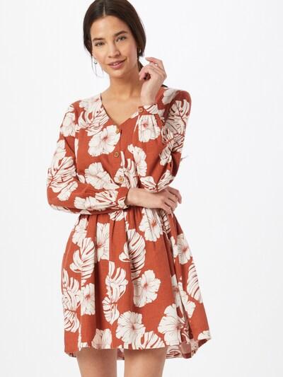 Rochie tip bluză 'WAKE UP DARLING' ROXY pe roșu orange / alb, Vizualizare model