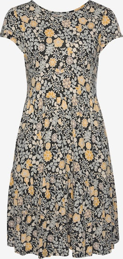 LASCANA Kleid in gelb / grau / schwarz, Produktansicht