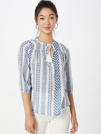 Bluză 'Remi' Hailys pe albastru / alb, Vizualizare model