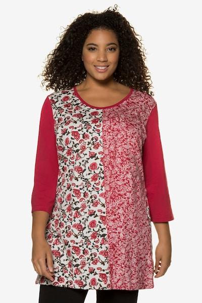Ulla Popken Shirt in mischfarben / pitaya: Frontalansicht