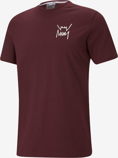 PUMA T-Shirt in gelb / weinrot / weiß, Produktansicht