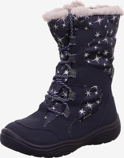 SUPERFIT Snowboots 'Crystal' in nachtblau / pastellpink / silber: Frontalansicht