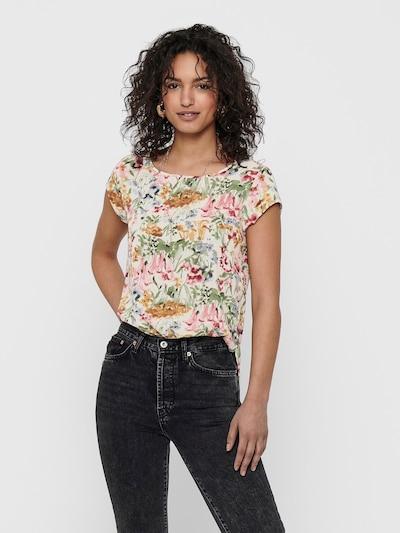 ONLY Shirt 'ONLVIC' in creme / hellblau / ocker / grün / rosa, Modelansicht