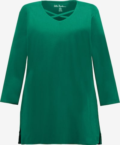 Ulla Popken Shirt in grasgrün: Frontalansicht