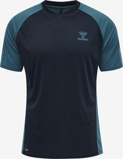 Hummel Functioneel shirt in de kleur Pastelblauw / Donkerblauw, Productweergave