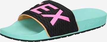 adidas Terrex Beach & Pool Shoes 'Adilette' in Black