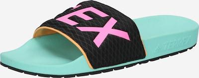 adidas Terrex Beach & Pool Shoes 'Adilette' in Jade / Pink / Black, Item view