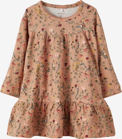 NAME IT Šaty 'Rachel' - kapučíno / tmavohnedá / zlatá žltá / trávovo zelená / tmavočervená, Produkt