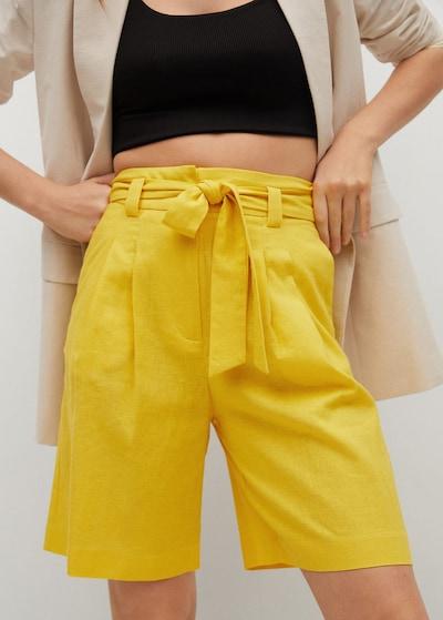 Pantaloni 'Laci' MANGO pe galben, Vizualizare model