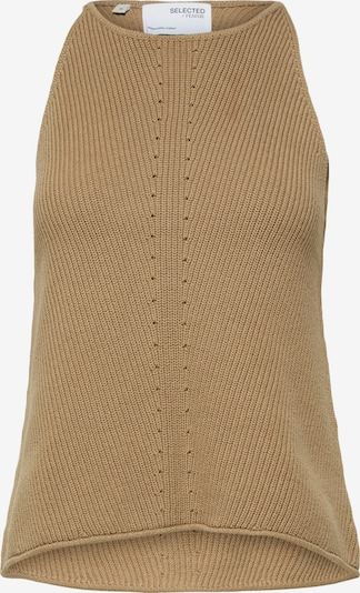 SELECTED FEMME Knitted Top 'Maxa' in Light brown, Item view