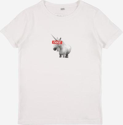 Mister Tee Тениска ' Fake Unicorn ' в сиво / червено / бяло, Преглед на продукта