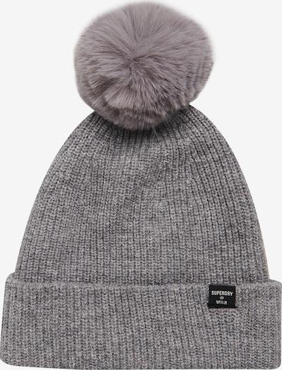 Superdry Mütze in hellgrau / schwarz, Produktansicht