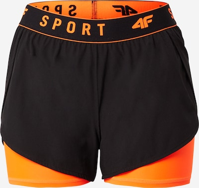 4F Shorts in orange / schwarz, Produktansicht