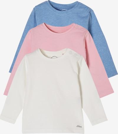 s.Oliver Shirt in blau / rosa / weiß, Produktansicht