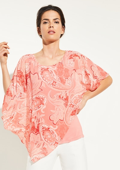 COMMA Cape-Bluse in pink: Frontalansicht