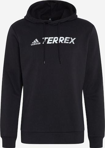 adidas Terrex Sportsweatshirt in Schwarz