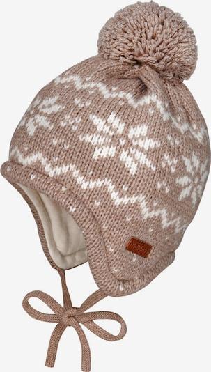 MAXIMO Mütze in hellbraun / weiß, Produktansicht