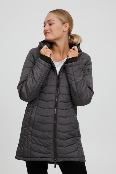 Oxmo Winter Coat 'NELLY' in Black, View model